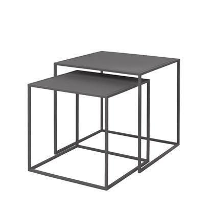 Stolek FERA SET/2ks kovově šedý_0