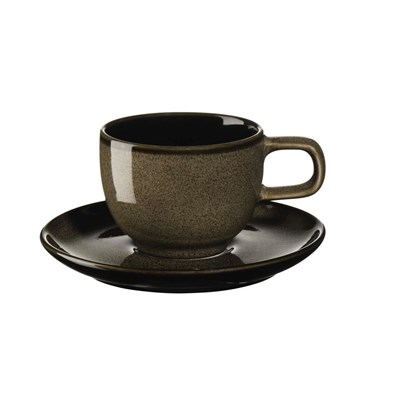 Šálek na espresso s podšálkem KOLIBRI 60 ml ořechový_1