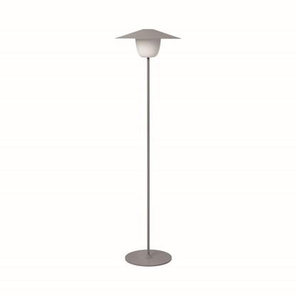 Přenosná LED lampa 120 cm šedá_0