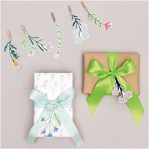 Papír. dekorace s kolíčky FLOWERS SET/8 ks_2