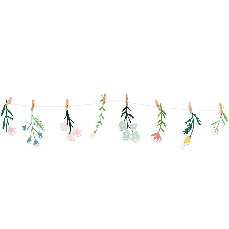 Papír. dekorace s kolíčky FLOWERS SET/8 ks_4
