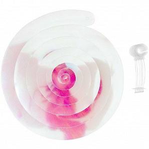 Závěsná spirála TWIN duhová bílá 50 cm SET/6 ks_1