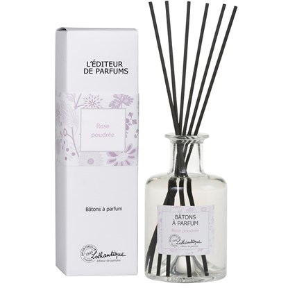 Vonný difuzér s černými dřívky 200 ml Powdery Rose - L`editeur de parfums_0