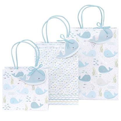 Kvalitní dárkové tašky SET/3 vel. Wal bleu_0