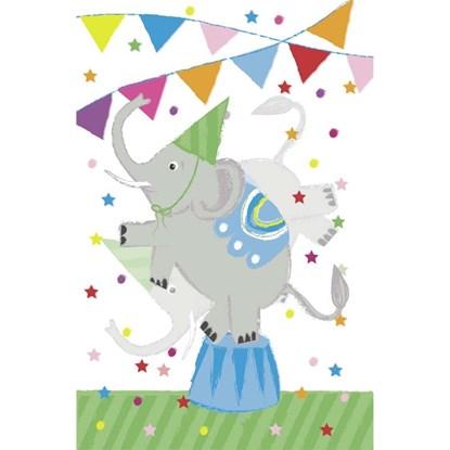 Přání s obálkou lentikulární Circus Dancing Elephant_0