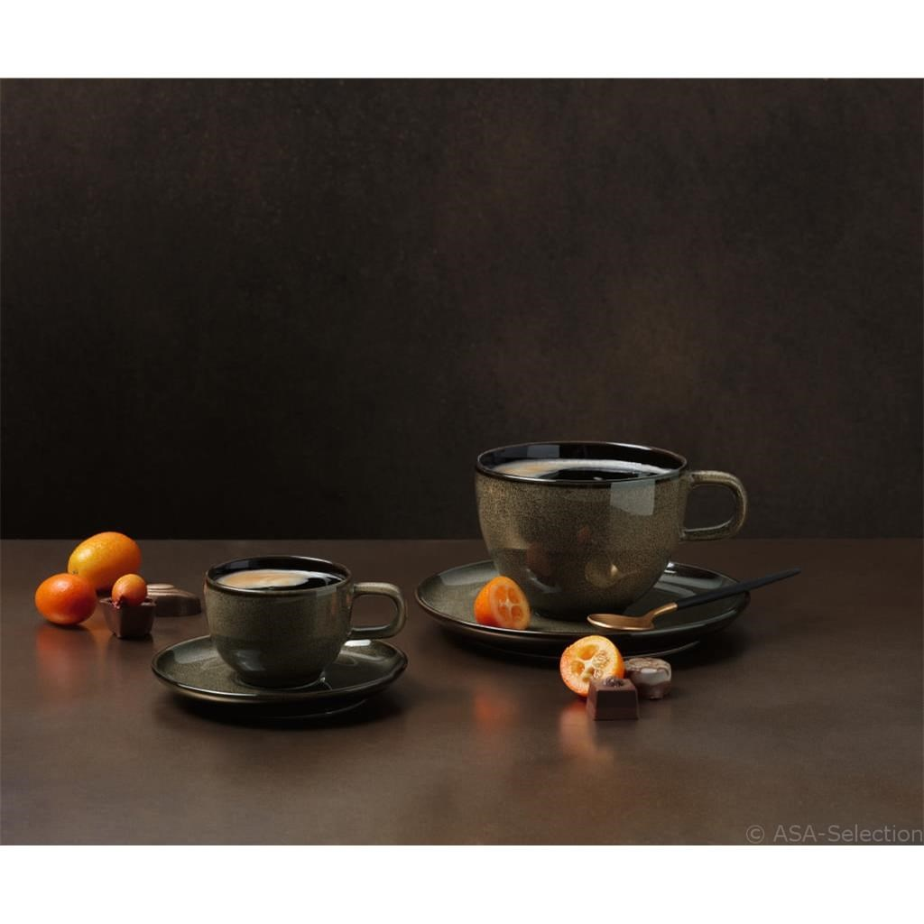 Šálek na kávu s podšálkem KOLIBRI 250 ml ořechový_0