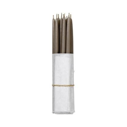 Máčené svíčky - tmavý len SET/10ks_0