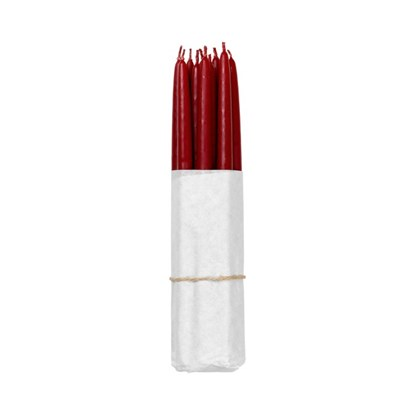 Máčené svíčky - tmavě červené SET/10_0