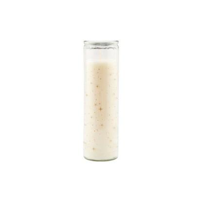 Svíčka ve skle CALENDAR bílá_0