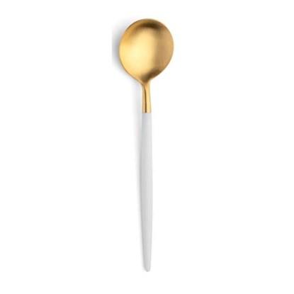 Lžička na kávu GOA zlatá / bílá rukojeť_0