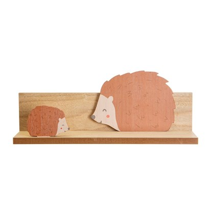 Dřevěná polička Woodland Friends Hedgehog_3
