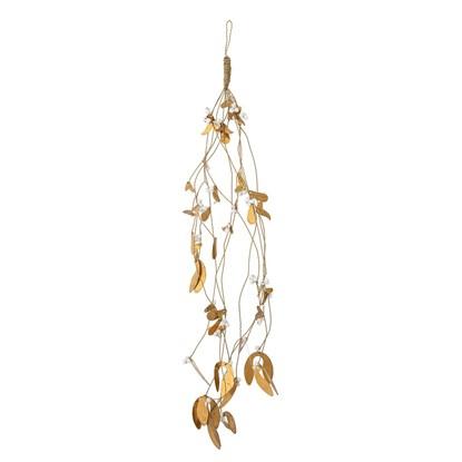Dekorační ornament zlaté jmelí V.63,5 cm_1