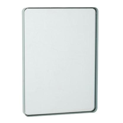 Oválné zrcadlo s mátově zeleným rámem 35x25 cm_0