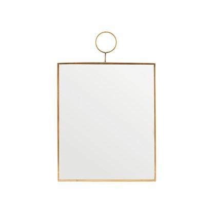 Zrcadlo LOOP 30x25 cm mosazné_3