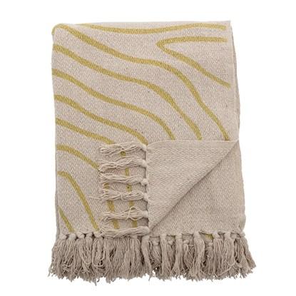 Pléd z recyklované bavlny Dami přírodní / žlutý_2