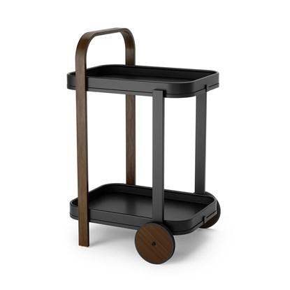 Odkládací stolek BELLWOOD černá, tm. hnědá_0