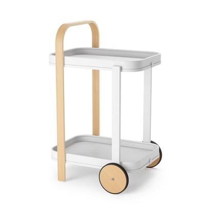 Odkládací stolek BELLWOOD bílá, přírodní_0