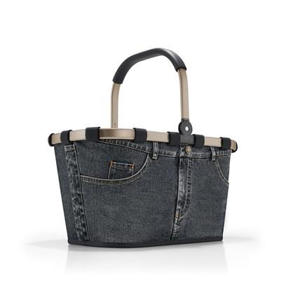 Nákupní košík Carrybag frame jeans dark grey_3