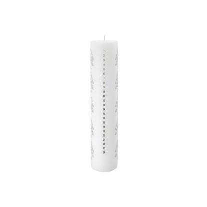 Svíčka adventní JOY bílá 30 cm_3