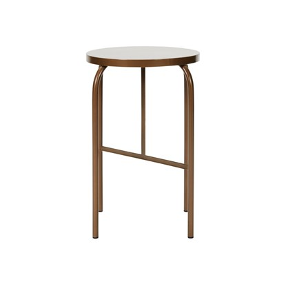 Kovová stolička SHAKER zlatohnědá_3