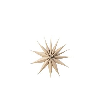 Vánoční hvězda VENOK 40 cm dýha přírodní_0