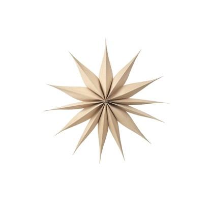 Vánoční hvězda VENOK 70 cm dýha přírodní_0