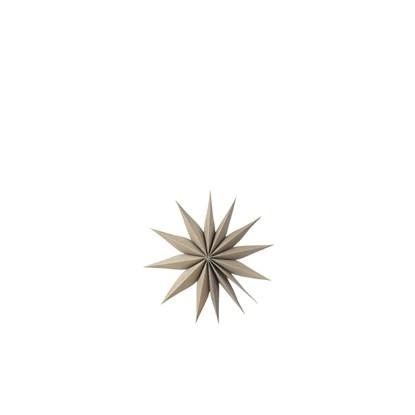 Vánoční hvězda VENOK 30cm dýha šedohnědá_0