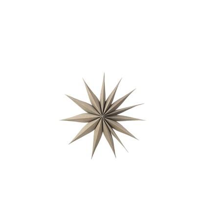 Vánoční hvězda VENOK 40cm dýha šedohnědá_0