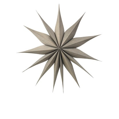 Vánoční hvězda VENOK 70cm dýha šedohnědá_0