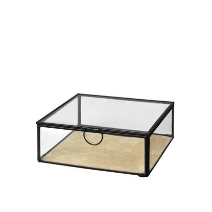 Skleněný box /šperkovnice JANNI 20x20cm černá_0